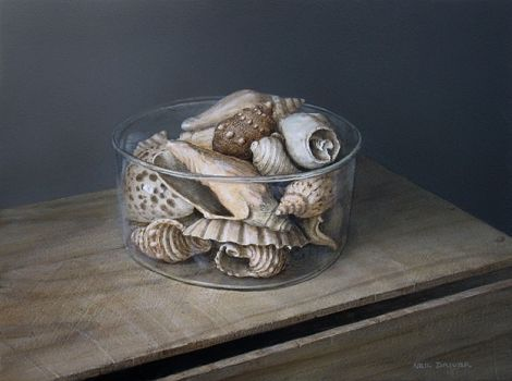 Shells In Glass Bowl